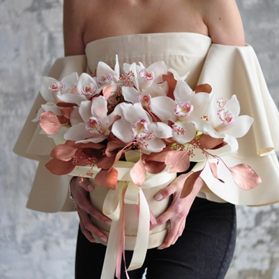 Flowers in box Moscow Russia