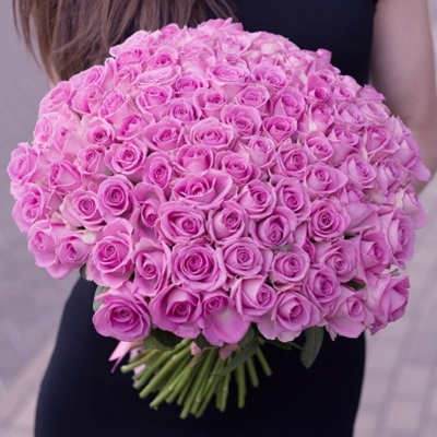 101 Roses to Moscow Russia