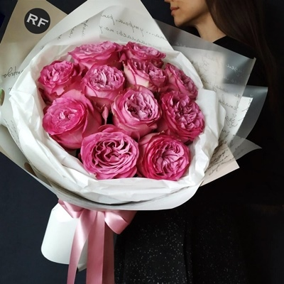 Peony bouquets to Moscow